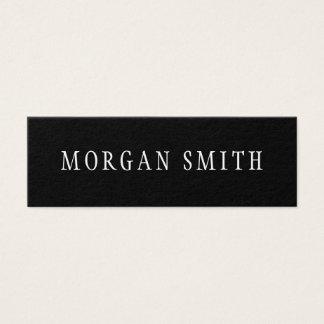 Preto e branco minimalista moderno cartão de visitas mini