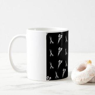 Preto e branco Scissor a caneca de café do teste