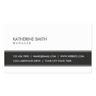 Preto e branco simples liso elegante profissional cartão de visita