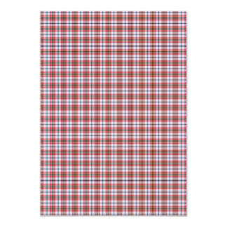 Preto e branco vermelho da xadrez tradicional convite 12.7 x 17.78cm