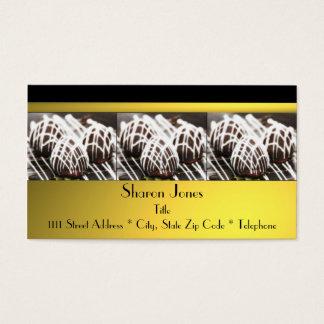 Preto e cartão de visita do chocolate do ouro