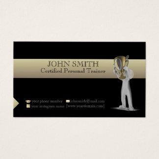 Preto e cartão de visita do modelo do ouro