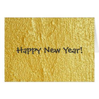 Preto e cartão do feliz ano novo do ouro