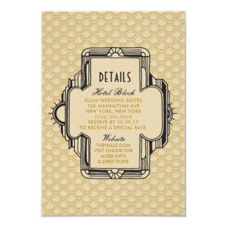 Preto e cartões de detalhes de Gatsby do ouro