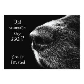 Preto e cinza do nariz de cão do convite do