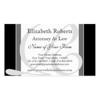 Preto e cinzas profissionais elegantes do cartão de visita
