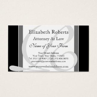 Preto e cinzas profissionais elegantes do cartão de visitas