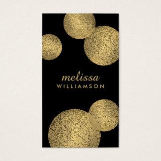 Preto e de encanto e de beleza II do ouro cartão