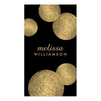 Preto e de encanto e de beleza II do ouro cartão Cartão De Visita