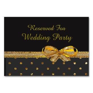 Preto e de partido ou de casamento do ouro cartões