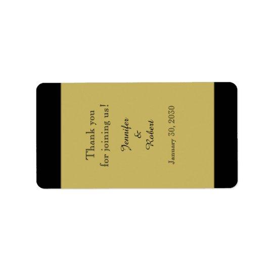 Preto e etiqueta do bálsamo de bordo do casamento etiqueta de endereço