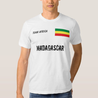 Preto e orgulhoso Madagáscar Tshirts
