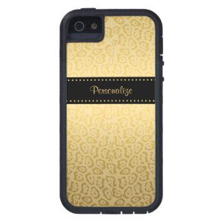 Preto e ouro Jaguar Capas Para iPhone 5