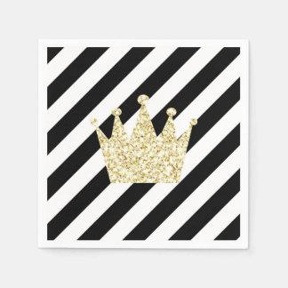 Preto e príncipe Coroa Guardanapo do ouro