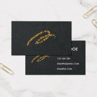 Preto elegante & cartão de visita do ouro