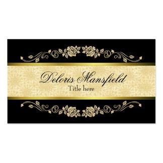 Preto elegante e cartão de visita do damasco de Ta