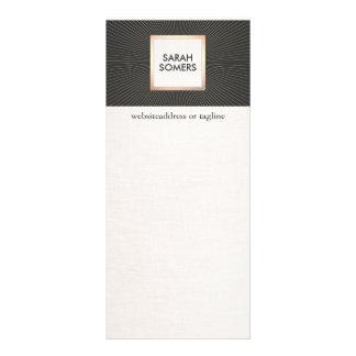 Preto elegante e vintage moderno à moda do ouro panfletos informativos personalizados
