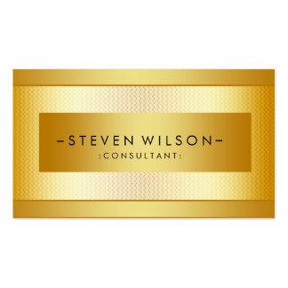 Preto elegante moderno profissional do metal da cartão de visita