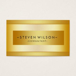Preto elegante moderno profissional do metal da cartão de visitas