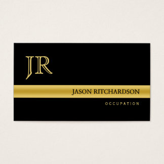 Preto elegante profissional e ouro do cartão de