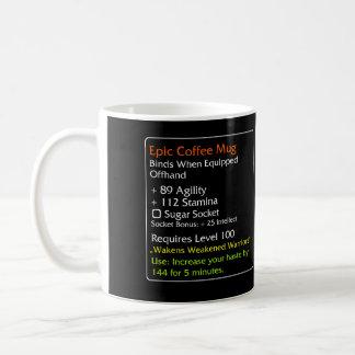 Preto épico da caneca de café