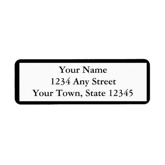 Preto feito sob encomenda etiquetas de endereço do etiqueta endereço de retorno