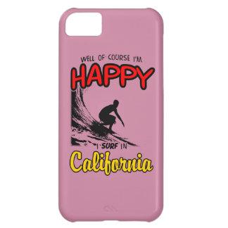 Preto FELIZ do SURFISTA 2 de CALIFÓRNIA Capa Para iPhone 5C