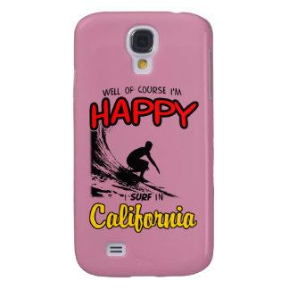 Preto FELIZ do SURFISTA 2 de CALIFÓRNIA Galaxy S4 Covers