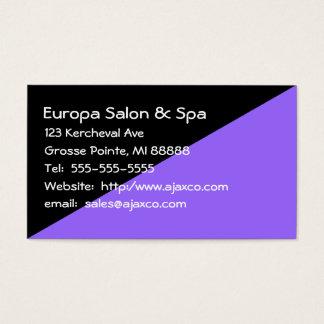 Preto feminino e cartão de visita das vendas da