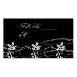 Preto floral da guarnição do vintage e cartão azul cartão de visita