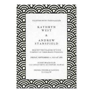 Preto formal + Convite Wedding modelado branco