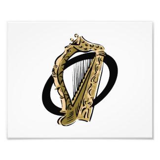Preto gráfico ring png da harpa ornamentado fotografias