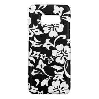Preto havaiano do hibiscus de Kapalua Pareau Capa Case-Mate Samsung Galaxy S8