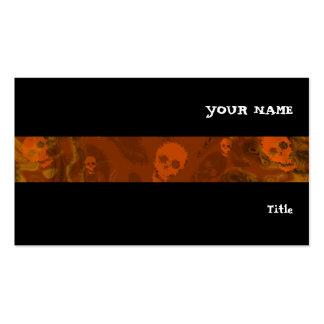 Preto horizontal da listra alaranjada dos cartão de visita