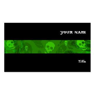 Preto horizontal da listra dos espectros do crânio cartão de visita