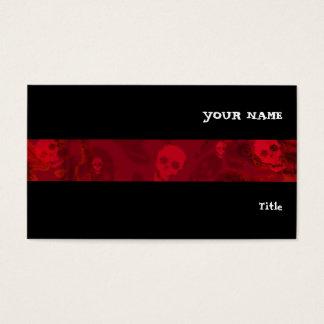 Preto horizontal da listra vermelha dos espectros cartão de visitas