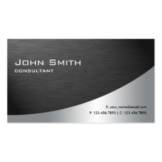 Preto liso moderno elegante do metal profissional cartão de visita