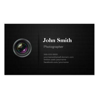 Preto liso profissional - fotógrafo da câmera cartão de visita