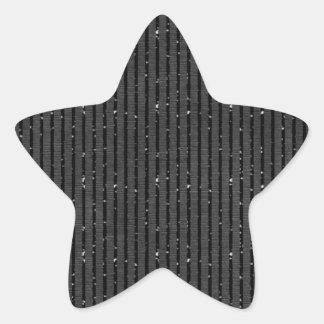 preto listrado do brilho adesito estrela