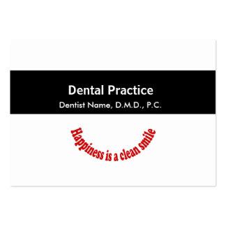 Preto médico da nomeação da odontologia listrado cartão de visita grande
