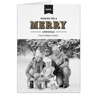 Preto moderno da tipografia e cartão de Natal do