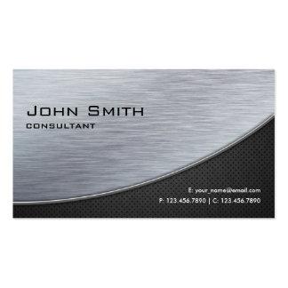Preto moderno de prata elegante profissional do cartão de visita