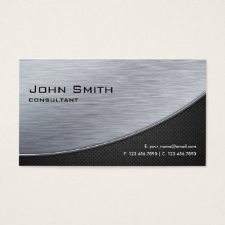 Preto moderno de prata elegante profissional do cartão de visitas