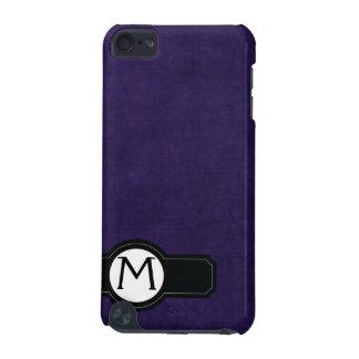 Preto Monogrammed roxo da capa do ipod touch Capa Para iPod Touch 5G