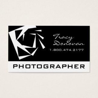 """Preto na moda & branco de """"quartzo"""" do fotógrafo cartão de visitas"""