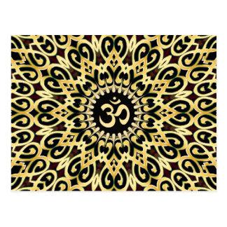 Preto ornamentado do Arabesque + Cartão de OM do