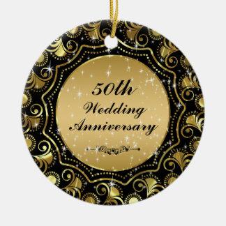 Preto & ornamento 2 do aniversário de casamento do