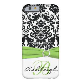 Preto personalizado, branco, iPhone 6 Ca do Capa Barely There Para iPhone 6