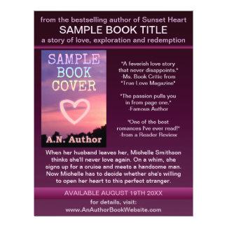 Preto roxo da capa do livro da promoção do autor d modelo de panfletos