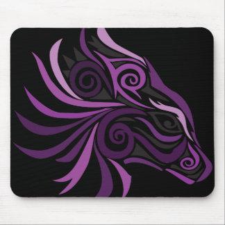 Preto roxo do tatuagem tribal do cavalo mouse pad